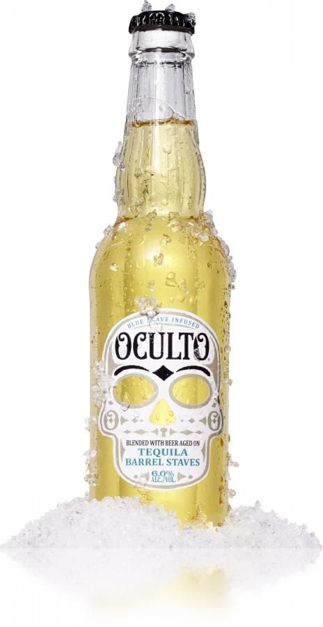 Oculto Blended with Beer Aged on Tequila Barrel Staves