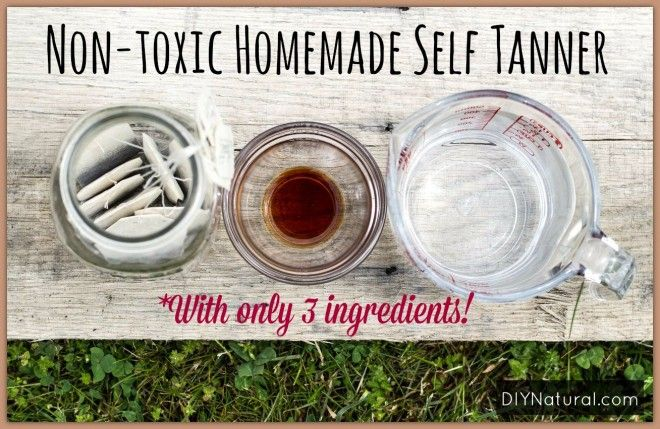 Homemade Self Tanner Recipe made with black tea