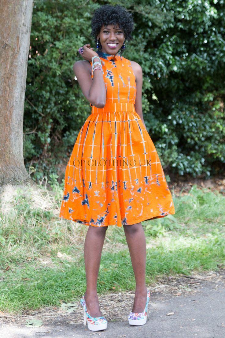 opclothinguk tarafından Tye Boya Afrika elbise Kısa Afrika elbise Ofisi