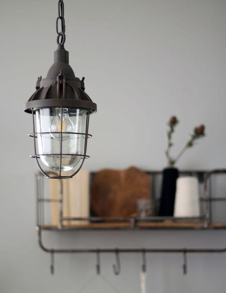 Vintage kooilamp Bronq Mistral bruin Ø17 cm - Alle lampen >