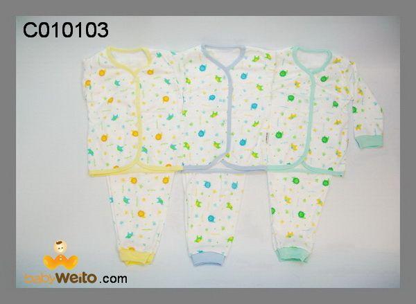C010103  Baju Setelan lengan panjang  Bahan halus dan lembut  Ukuran: S  Warna sesuai gambar  IDR 120*/ 3pcs