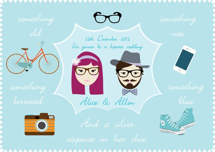 ..hipster..original illustration by Anna Dyczka from $1.45