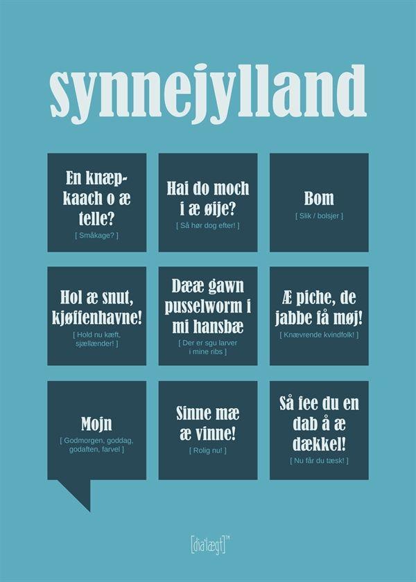 dialægt plakat synnejylland | Sønderjysk dialekt plakat
