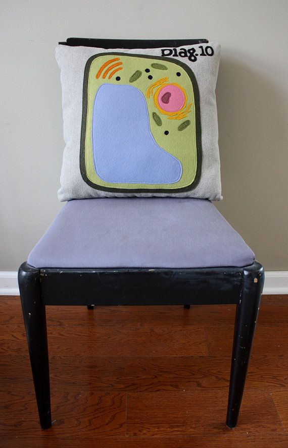 Science Diagram Pillow - Plant Cell via Etsy
