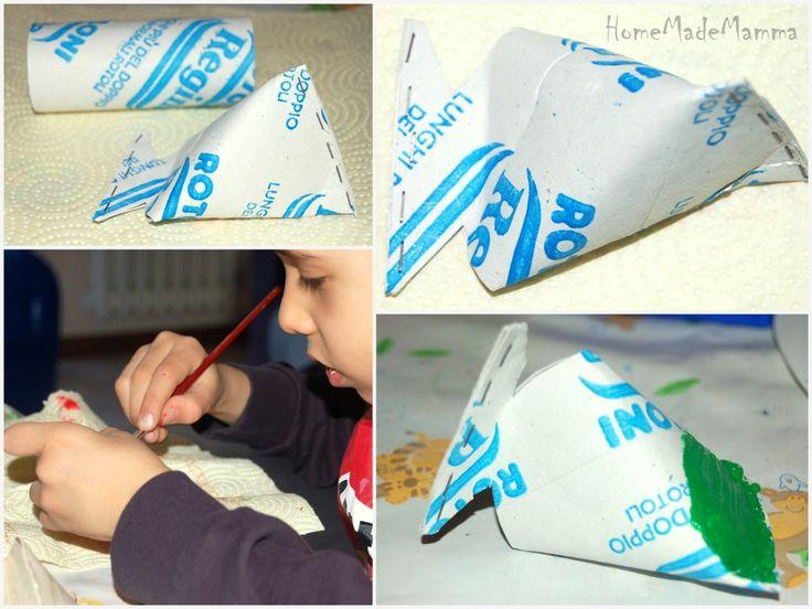Primo dAprile creativo: da rotoli di cartone a pesci