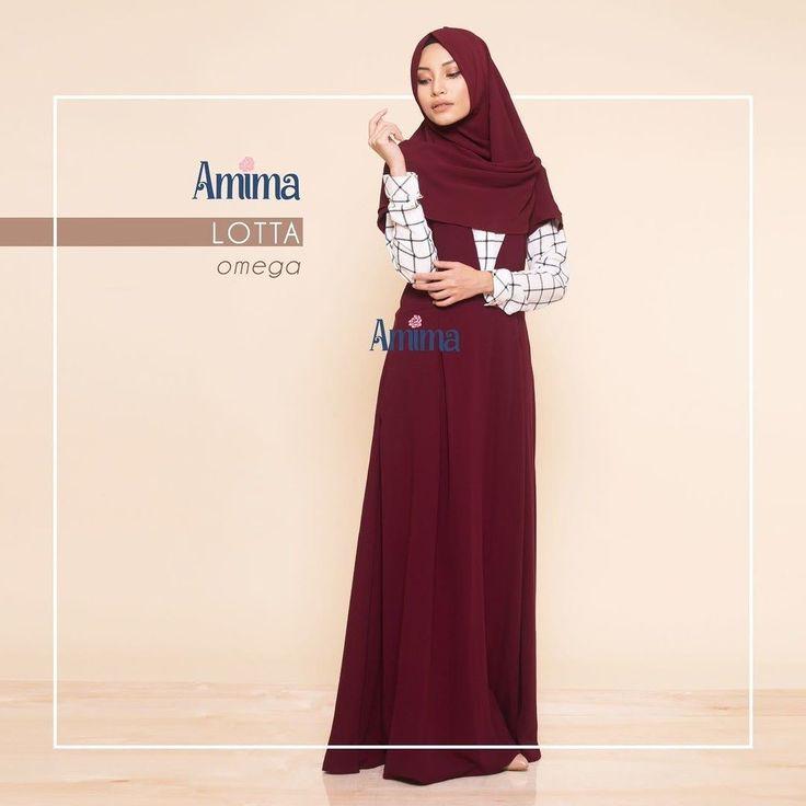 Gamis Amima Lotta Dress Omega Baju Muslim Wanita Baju