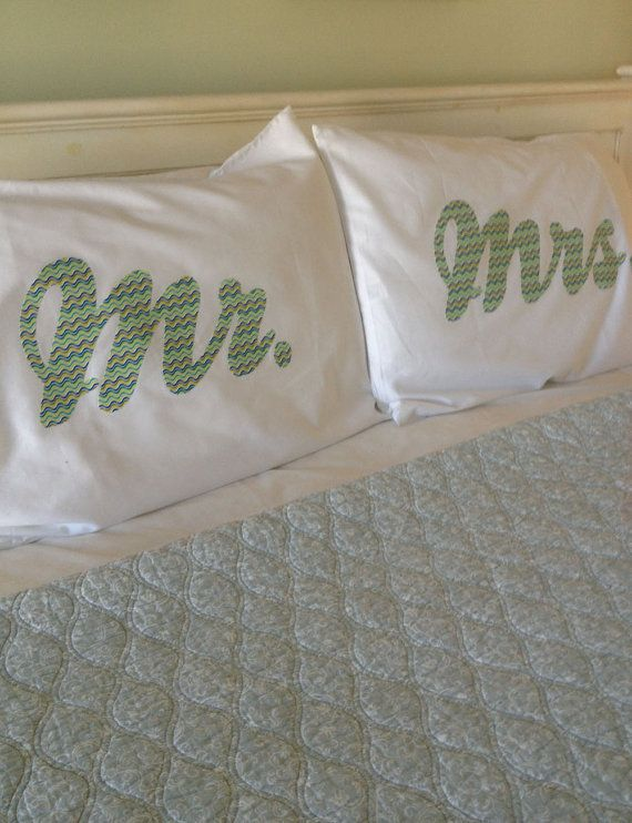 Second wedding anniversary = Cotton  Pillow case for his and hers | Mr Mrs, His and Hers Pillow Cases Pair - Wedding, 2nd Anniversary ...