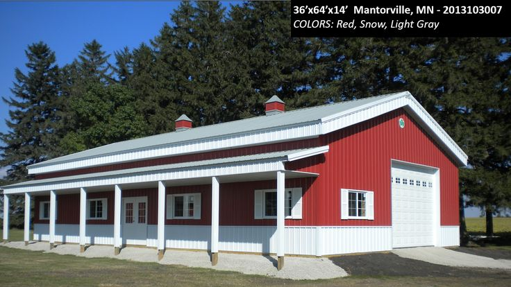 36'x64'x14' | Cleary Suburban Building | Colors: Red, Snow, Light Gray