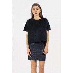 Jacquard skirt #deepblue #minimalism