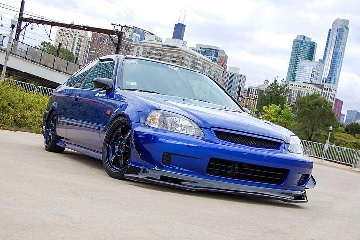 1999 Honda Civic Si Seibon Carbon Fiber Front Lip