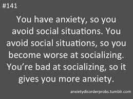 social anxiety, vicious cycles of fear