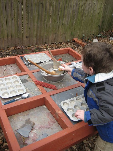 mud table outside... perfect for little soil scientists