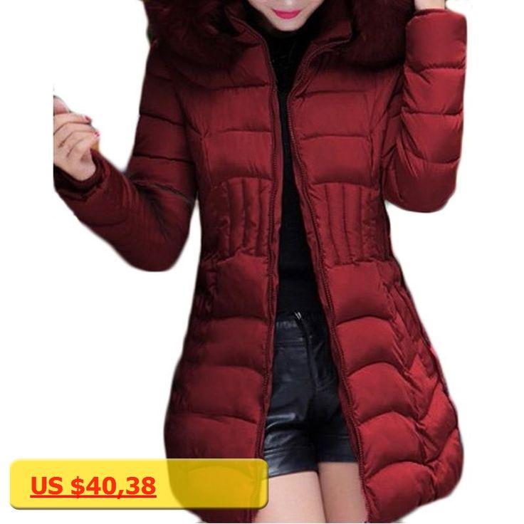 2017 New Long Parkas Women Winter Coat Thicken Female Cotton Jacket Faux Fur Collar Womens Puffer Coats Overcoat Plus Size 4XL