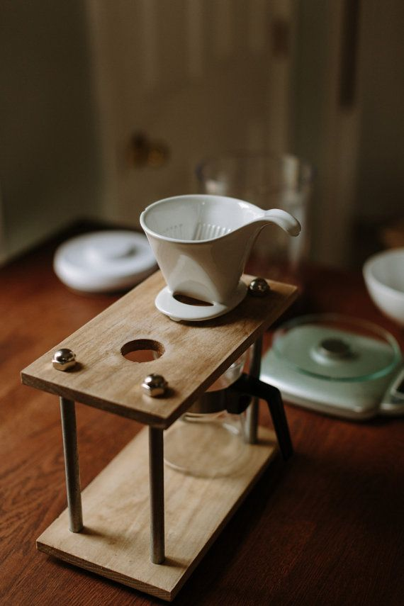 The Boxer: Original Wooden Pour Over Coffee Station