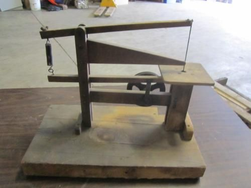 Lot 274427 Home Made Hand Crank Wooden Scroll Saw