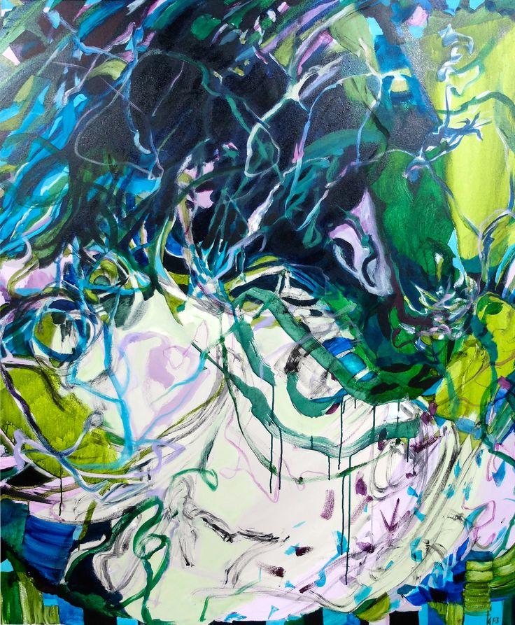 Gabrielle Jones, Moving Real Loud, 152x122cm Acrylic on Canvas www.gabriellejones.com.au