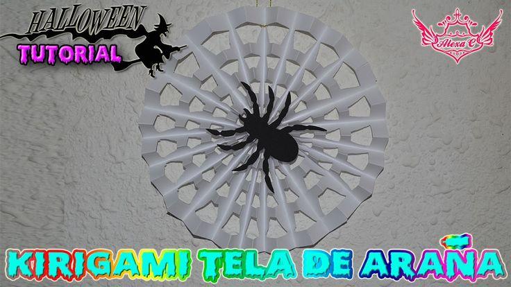 ♥ Tutorial: Halloween 2015 - Kirigami Tela de Araña ♥