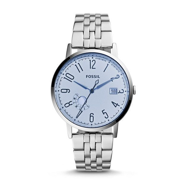 awesome Montre pour femme : LOVE the light blue! Vintage Muse Three-Hand Date Stainless Steel Watch - Fossil...