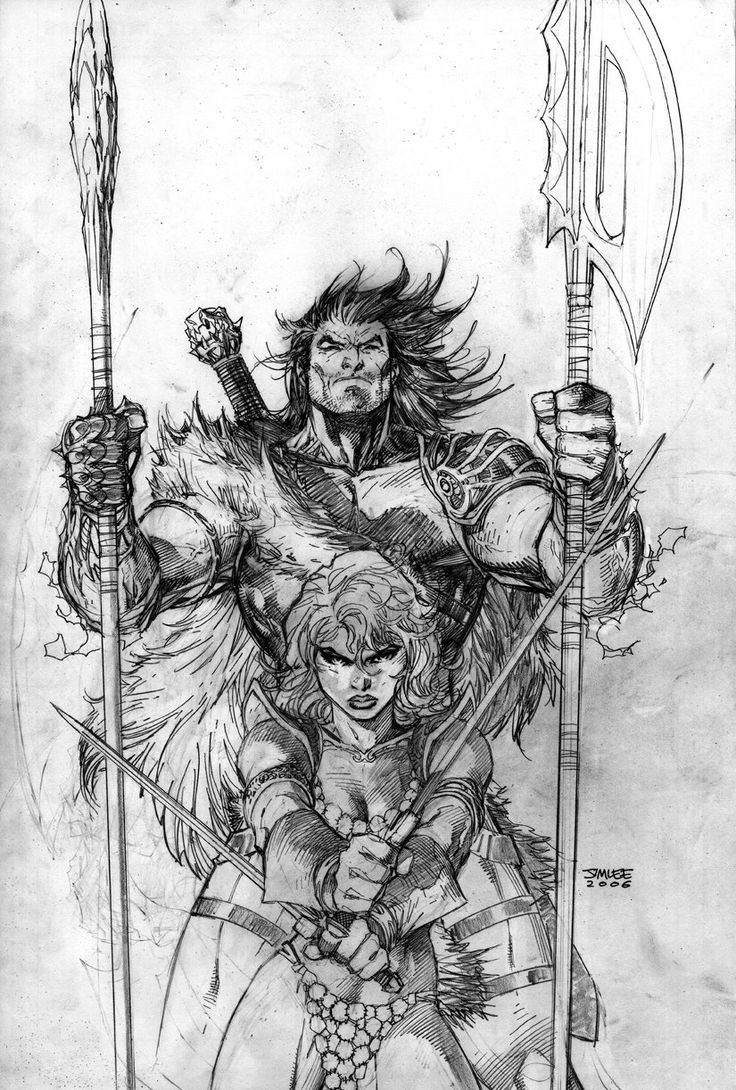Red Sonja/Claw the Unconquered: Devil's Hands #2 (Variant cover) by Jim Lee
