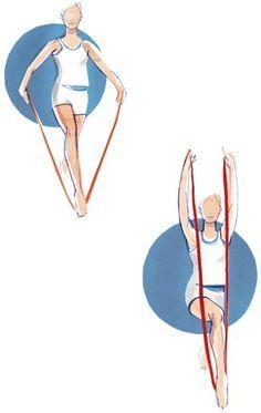 Brigitte Übungen mit dem Fitnessband