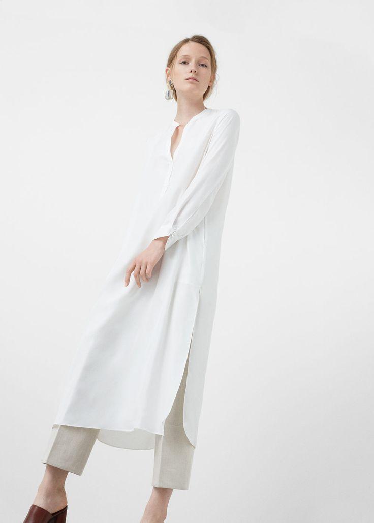 Silk blouse -  Women | MANGO USA