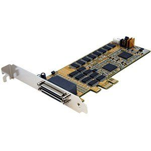 StarTech 16 Port LP RS232 PCI Express Serial Card & Cable. 16PORT PCIE SERIAL ADAPTER CARD 16950 UART SERIAL. PCI Express - 16 x DB-9 Male RS-232 Serial Via Cable - Plug-in Card - DB-9 Male Serial Cable by StarTech. $397.84. Manufacturer: StarTechManufacturer Part Number: PEX16S952LP Brand Name: StarTechProduct Name: 16 Port LP RS232 PCI Express Serial Card & Cable Marketing Information: The PEX16S952LP PCI Express serial card (16950 UART) lets you turn a low profile PCIe s...