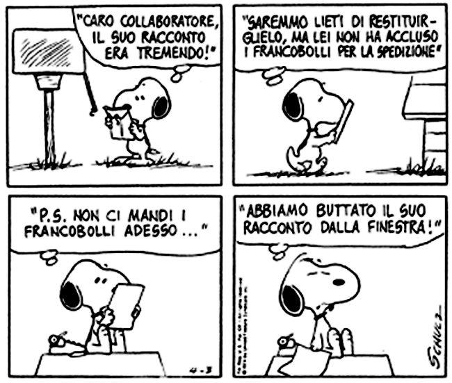 Le lezioni di Scrittura di Snoopy » Lettere di rifiuto /Valutazioni... #scrittura #snoopy