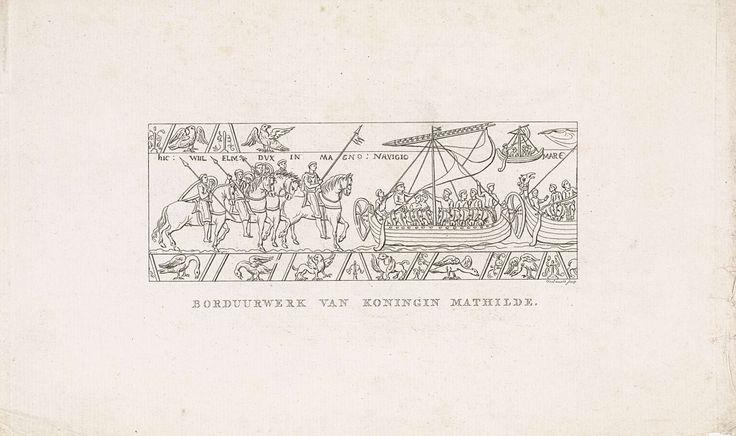 Daniël Veelwaard (I) | Willem I de Veroveraar op het borduurwerk van koningin Mathilde, Daniël Veelwaard (I), 1776 - 1851 |