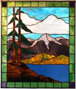 Wrenovations Custom Stained Glass Creations Panels - Custom designs