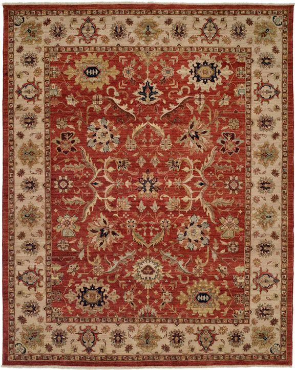 Bashir 581 Red Traditional Rug Interiordesign