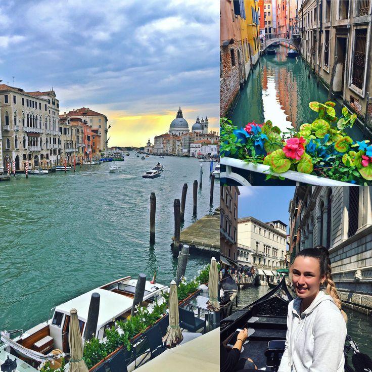 Venice, Italy - Gondola riding through the canals.