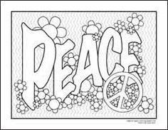 PEACE Signs Colouring Pages FREE PDFs From All Ages Coloring