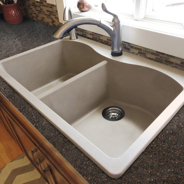 Aversa 33 L X 22 W Granite Double Equal Drop In Kitchen Sink