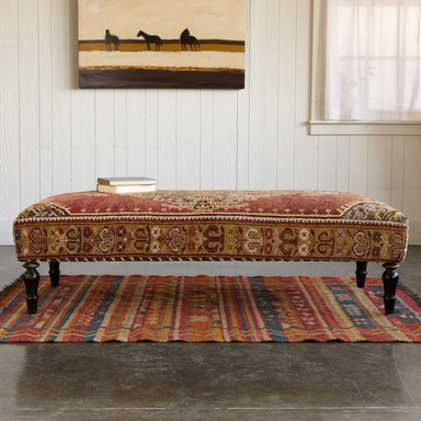 TOPKAPI TURKISH CARPET OTTOMAN - Sofas & Chairs - Furniture - Furniture & Decor | Robert Redford's Sundance Catalog