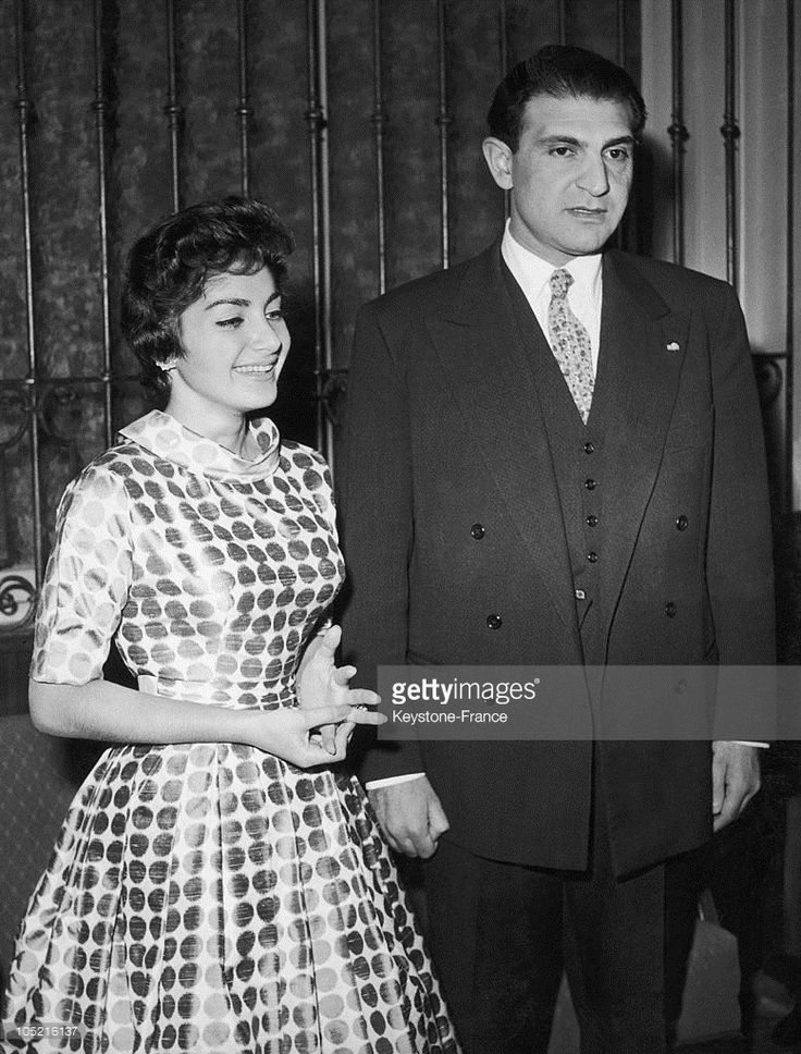 The Princess Shahnaz Pahlavi - Daughter Of The Shah Of Iran - And Her Husband Ardeshir Zahedi In Munich On November 17, 1957.