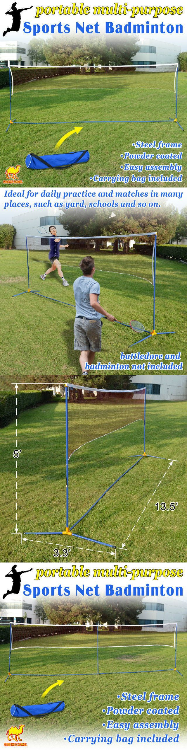 Badminton 106460: Portable 3-In-1Training Beach Volleyball Badminton Tennis Net Set With Carrying -> BUY IT NOW ONLY: $44.0 on eBay!