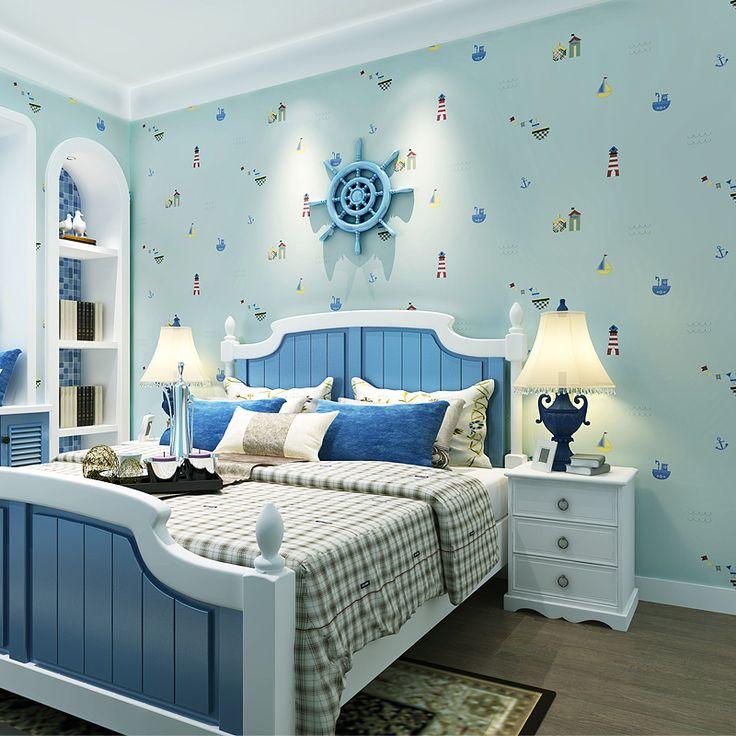 Cheerhuzz  Dormitorio fondo de dibujos animados de estilo mediterráneo  https://es.aliexpress.com/store/product/Children-Room-Wallpaper-Non-woven-Wallpaper-Mediterranean-Style-Warm-Boys-And-Girls-Bedroom-Cartoon-Background-Wall/1248587_32754734970.html?spm=2114.12010608.0.0.iW1aDR