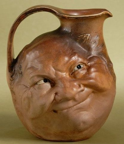 Martin Brothers Face Jug sold by Skinners with link follow - For those of you familiar with the brothers Ford, this reminds me of those stupid mashups they do of dumber & dumbest - Scary ! -