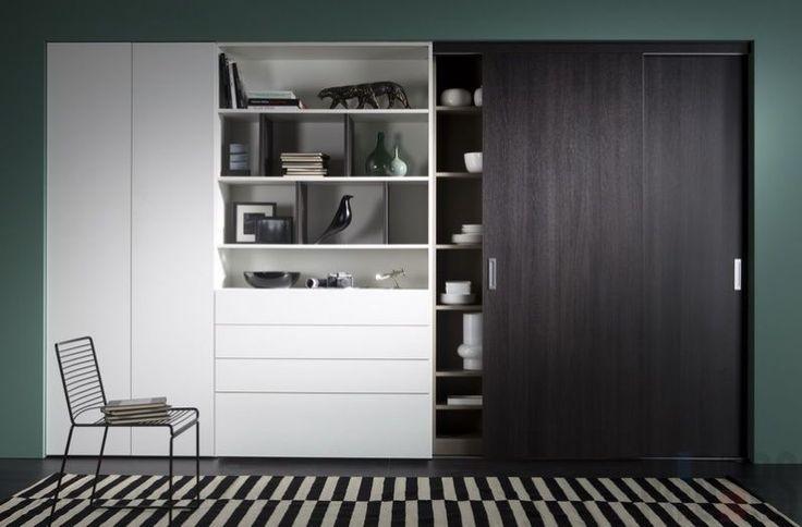 черный шкаф-купе в интерьере