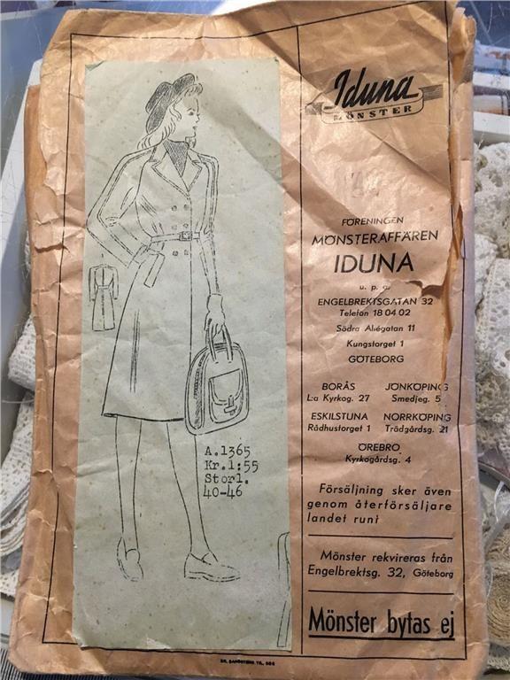 Vintage - symönster - damkappa på Tradera.com - Symönster för sömnad och