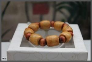 Large Tan small Brown Beaded Bracelet