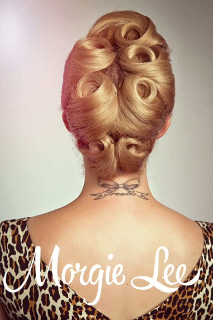A fun twist on the classic pin curl! This style can easily live for 2-3 days, and even better, your hair is super curly when you let it out, perfect for a cute pony tail or up do!