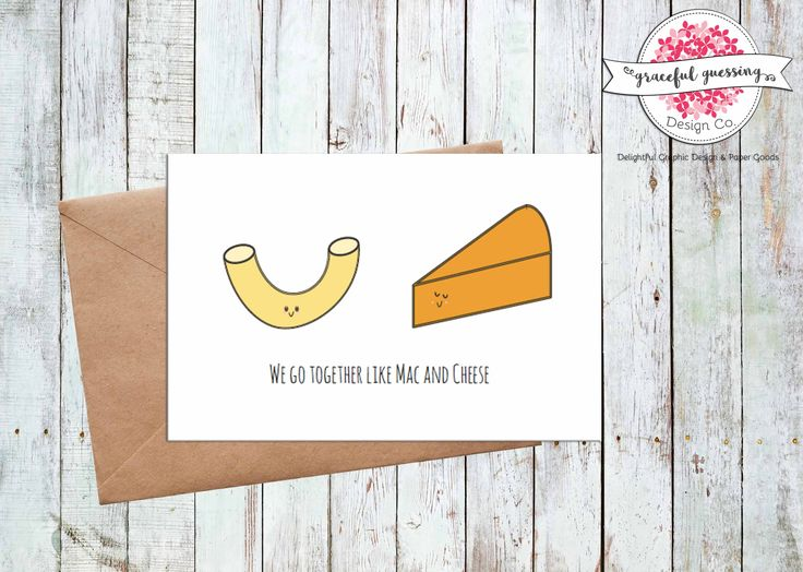 Printable Love You Card - Printable Anniversary Card - Mac and Cheese - Husband Valentines Card - Cute Love You Card - Wife Valentines Card by gracefulguessing on Etsy