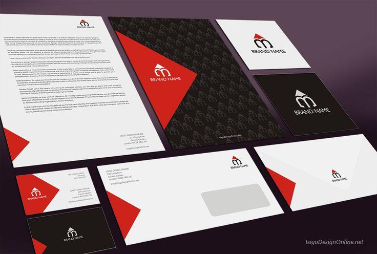 Brand Identity Pack Templates Free   ... identity design Mockup M Pencil logo Brand Identity Design Template