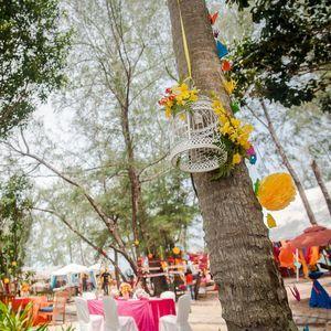 birdcage - hanging decor - hanging decorations - outdoor mehendi