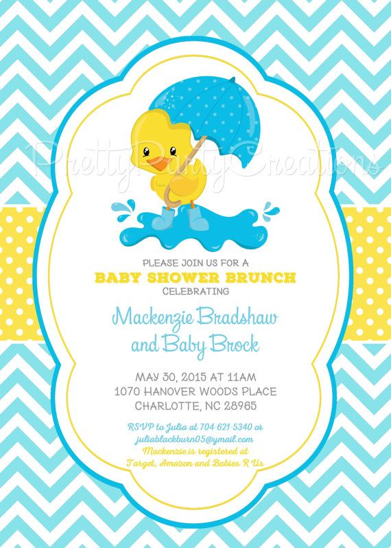 25+ best ideas about baby shower duck on pinterest | rubber ducky, Baby shower invitations