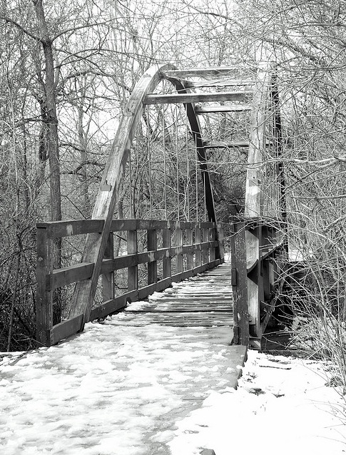Walking Bridge At Swanson Park Wichita Kansas