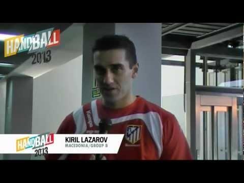 Kiril Lazarov von der mazedonischen Handballnationalmannschaft freut sich auf die WM2013.    repinned by someid.de