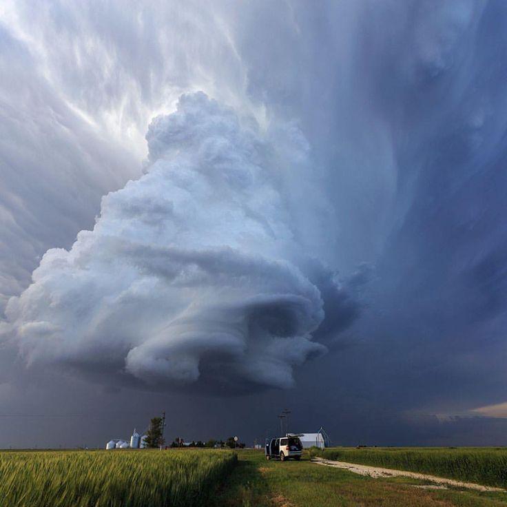 "EARTH FOCUS (@earthfocus) on Instagram: ""Insane supercell near Leoti, Kansas. Shot back in May 2016 by the talented @markokorosecnet…"""