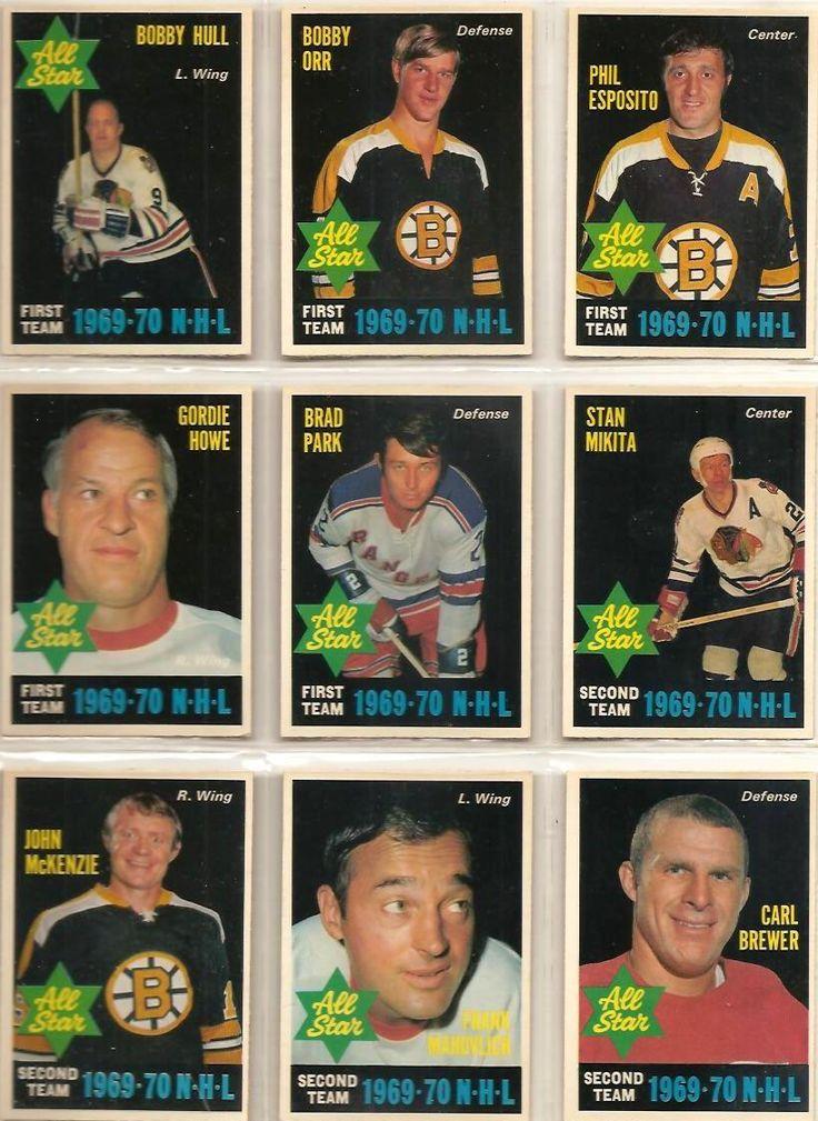 235-243 All Stars: Bobby Hull, Bobby Orr, Phil Esposito, Gordie Howe, Stan Mikita, John McKenzie, Frank Mahovlich, Carl Brewer
